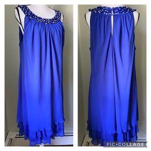 S. L. Fashions blue dress sz 18W